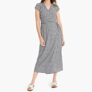 J. Crew Dresses - J.Crew - Midi wrap dress in soft rayon gingham